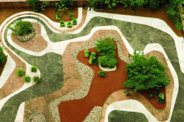 giardino di design e  architettura d'interni